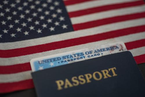 passport card inside a passport book