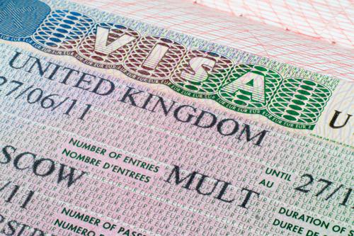 Image of a visa