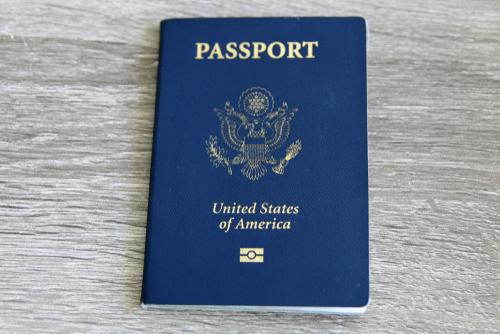 A recently replaced U.S. passport